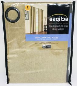 New! Eclipse Anderson Blackout Grommet Window Curtain Panel,