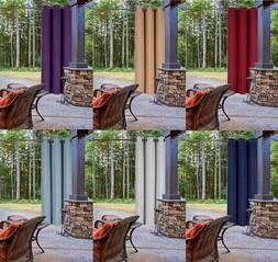 New Outdoor Unlined Thermal Blackout Window Drape Curtain Pa