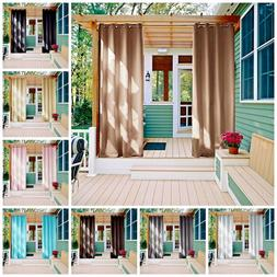 Outdoor Curtain Panels Thermal Insulated Blackout Curtains P