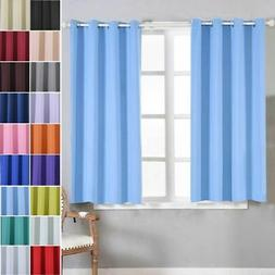 Polyester Blackout 52 x 64-Inch Window Drapes Curtains 2 Pan