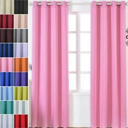 Polyester Blackout 52 x 96-Inch Window Drapes Curtains 2 Pan
