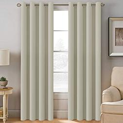 Room Darkening Curtain 84 Inches Long Thermal Insulated Curt
