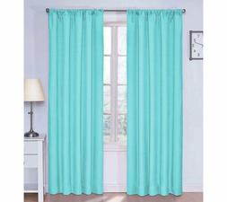 Set 2 Aqua Blue Window Curtains Panels Drapes 63 84 inch L B