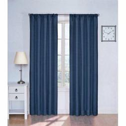Set 2 Denim Blue Window Curtains Panels Drapes 63 84 inch L