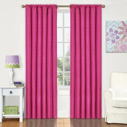Set 2 Pink Berry Curtains Panels Drapes 63 84 inch L Blackou