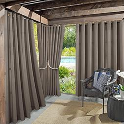 Sun Zero Indoor/Outdoor Woven Solid Window Curtain Reed Bloc