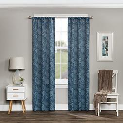 Eclipse Amara Blackout Window Curtain Panel, Indigo