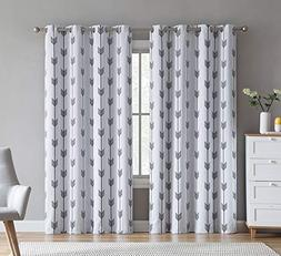 HLC.ME Arrow Printed Privacy Blackout Energy Efficient Room