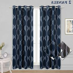 Arrow Trellis Printed Grommet Thermal Insulated Blackout Cur
