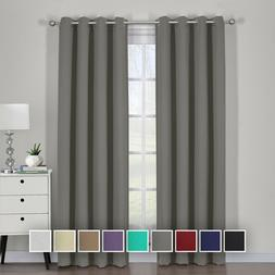 Ava Blackout Curtain Set Window Grommet 2 Panels With Tie Ba