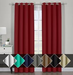 Pair Ava Blackout Window Curtains with Tie Backs Set Thermal
