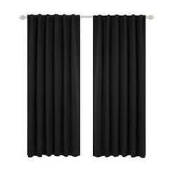 Deconovo Back Tab and Rod Pocket Curtains Blackout Panels Th