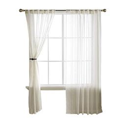 Deconovo Back Tab and Rod Pocket Sheer Voile Window Curtains