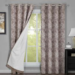 Bali Set of 2 100% Blackout Curtains Upscaled Abstract Therm