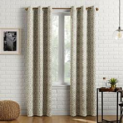 Sun Zero Barnett Trellis Blackout Grommet Curtain Panel, 40""
