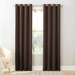 "Sun Zero Barrow Energy Efficient Grommet Curtain Panel 54"" x"