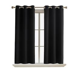 "Bedroom Blackout Curtains Draperies Black - RYB HOME ( 42"" W"