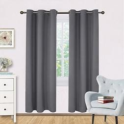NICETOWN Bedroom Blackout Draperies Curtains Panels, Three P