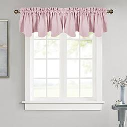 NICETOWN Bedroom Blackout Valance Tier - 52-inch by 18-inch