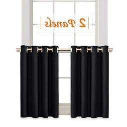 RYB HOME Half Window Kitchen Curtains Valances, Grommet Top