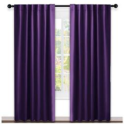 NICETOWN Bedroom Curtains Blackout Drapery Panels -  W52 x L