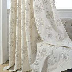Anady Top Bedroom Curtains Flower Blackout Drapes 2 Panel Bl