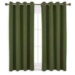 "NICETOWN 45"" Bedroom Curtains Panels - Functional Blackout C"