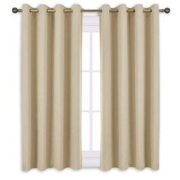 NICETOWN Bedroom Curtains Room Darkening Draperies - Cream B