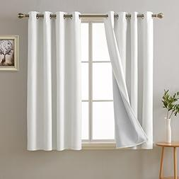 Deconovo Bedroom White Blackout Curtains with Grommet Energy