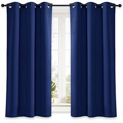 NICETOWN Bedroom Window Blackout Curtain Panel Thermal Insul
