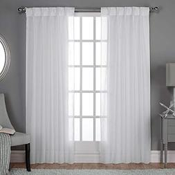 Exclusive Home Belgian Textured Sheer Pinch Pleat Curtain Pa
