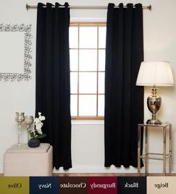 Blackout Curtain Black Antique Brass Grommet Top Thermal Ins