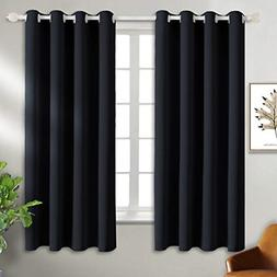 BGment Black Blackout Curtains for Bedroom - Grommet Thermal