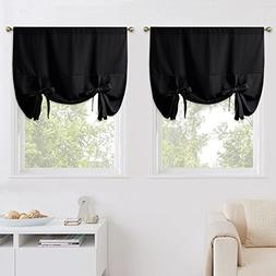 NICETOWN Black Out Curtains for Apartment - Adjustable Tie U