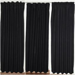 Black Linen Curtains Choice of Tops, Lengths & Linings - 100
