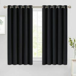 NICETOWN Black Out Curtains for Living Room - Easy Care Soli