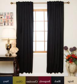 Blackout Curtain Black Rod Pocket Energy Saving Thermal Insu