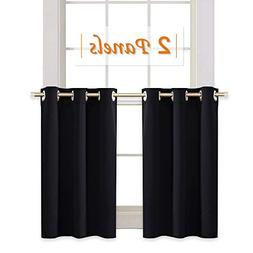 RYB HOME Blackout Tiers Window Drapery Valances for Bedroom,