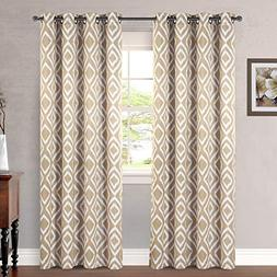 H.VERSAILTEX Blackout Bedroom Curtains Mocha Taupe Diamond I