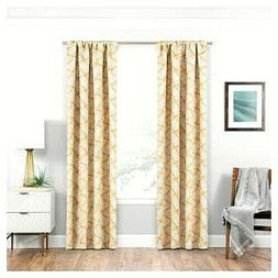 """Eclipse Blackout Benchley Curtain Panel Gold 37"""" by 63"""""""