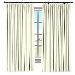 TWOPAGES 100% Blackout Curtain, 72 W x 84 L inch Pinch Pleat