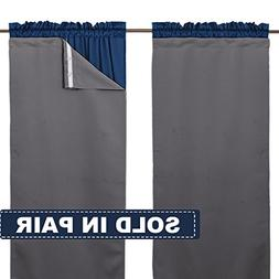 NICETOWN Blackout Curtain Panels Drape Liners - Thermal Insu