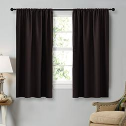 """NICETOWN Blackout Curtain Panels 45"""" Long - Noise Reducing T"""