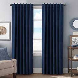 H.VERSAILTEX 100% Blackout Curtain Panels Solid Thermal Insu