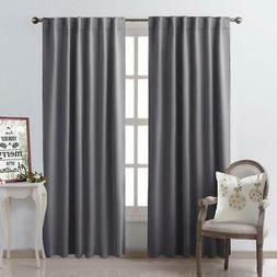 NICETOWN Bedroom Curtains Blackout Curtain Panels - Gray Col