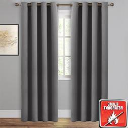 NICETOWN Blackout Curtain Panels Window Draperies -  52-Inch