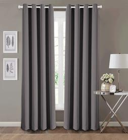 BLACKOUT CURTAIN PANELS WITH GROMMET TOP = Energy Saver + Sh