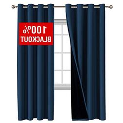 100% BLACKOUT Curtain Set Thermal Insulated Blackout Curtain