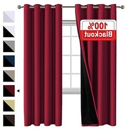 Flamingo P 100% Blackout Curtains for Bedroom, Thermal Insul