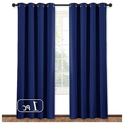 NICETOWN Blackout Royal Navy Blue Curtain Panel - Light Bloc